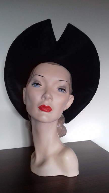 bca6c05d0fa ELSIE 1940 S AMERICAN HALO HAT Blackout Black - The Little Shop Of ...
